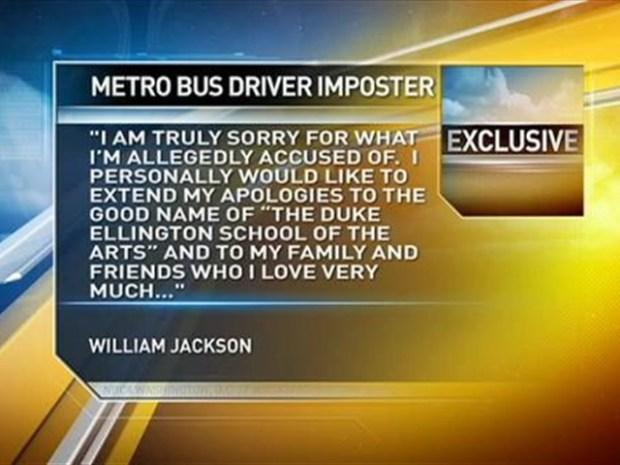 [DC] Teen Apologizes After Metrobus Taken