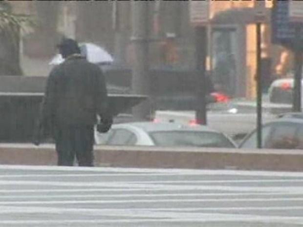 [DC] Raw Video: Sleet on Pennsylvania Avenue