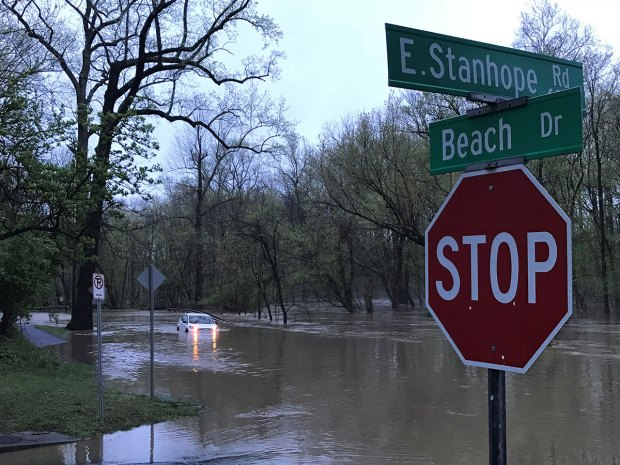 Photos: Drivers Rescued After Significant Flooding on DC-Area Roads