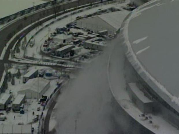 [DFW] Ice Falling from Cowboys Stadium