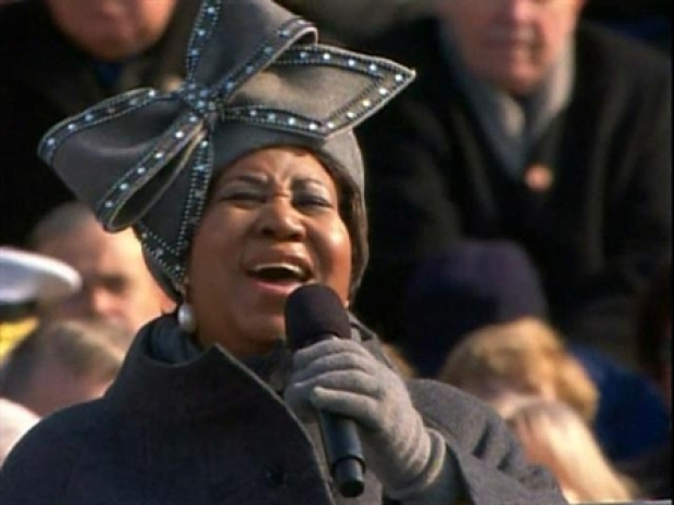 "Aretha Franklin Sings ""My Country 'Tis of Thee"""