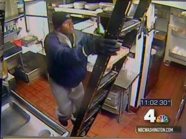 [DC] Diner Security Cam Captures Intruder