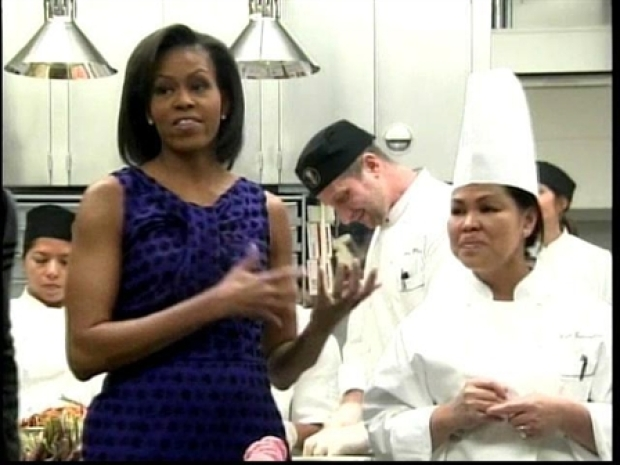 [DC] First Lady Talks White House Food