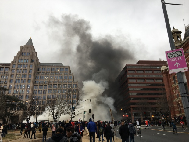 PHOTOS: Protesters Clash With Police on Inauguration Day in Downtown DC
