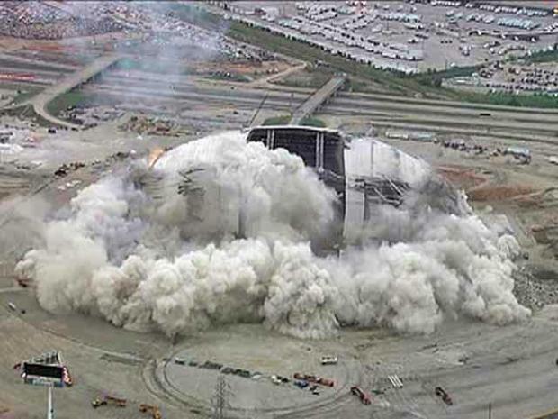 [DFW] Stadium Implosion: Chopper View