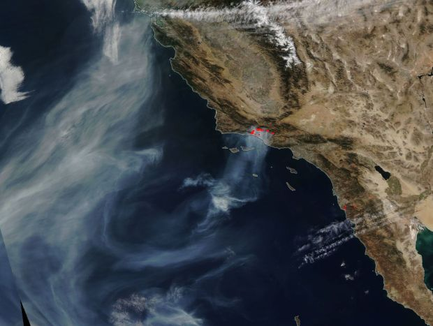 [NATL-LA GALLERY UPDATED 12/14] Smoke and Fire From Space: Wildfire Images From NASA Satellites