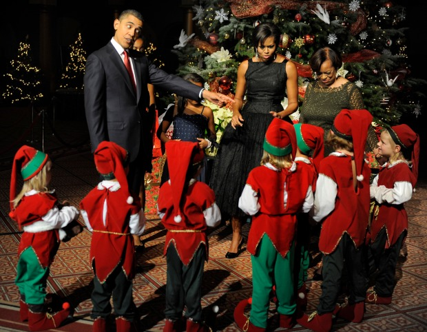 "Obamas Help Celebrate ""Christmas in Washington"""
