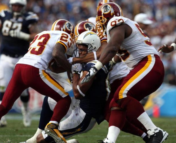 Images From Redskins-Chargers Game