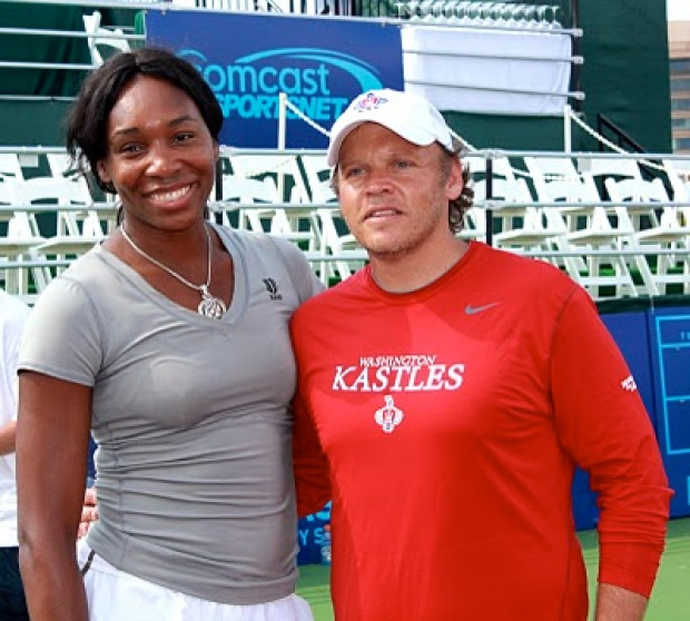 Venus Williams Coaches Kids at Kastles Stadium