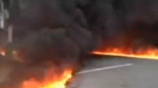 [LA] RAW VIDEO: Fiery Tanker Crash Shuts Fwy