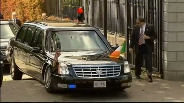 [DC] Obama's Limo Stuck in Ireland