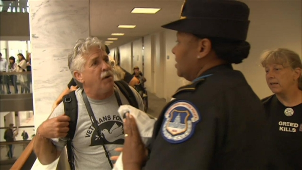 [DC] Raw Video: Protesters In Upper Floors of Senate Office Building