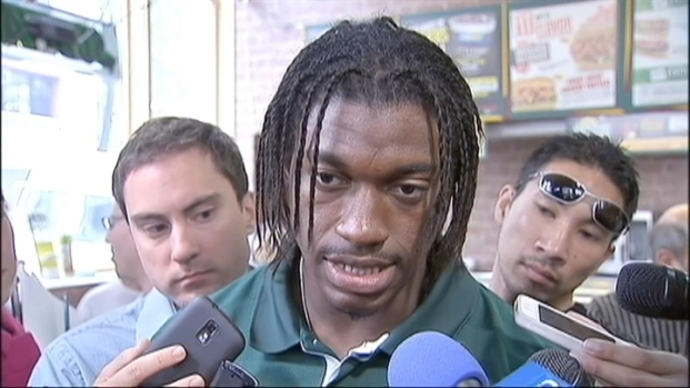[DC] Dan Hellie Chats With Robert Griffin III at Subway
