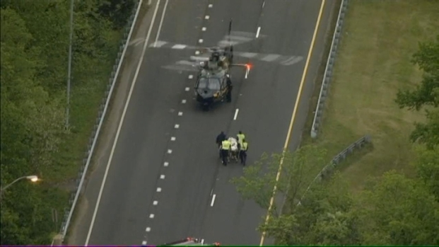 [DC] Raw Video: Chopper4 Over Route 4 Crash