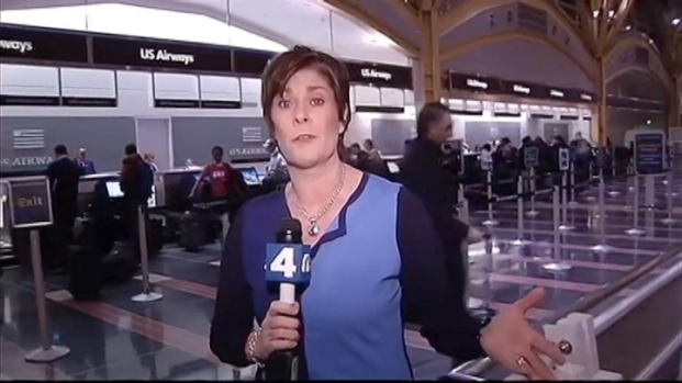 [DC] Crowded Scene at Nat'l Airport in Advance of  Boston Storm