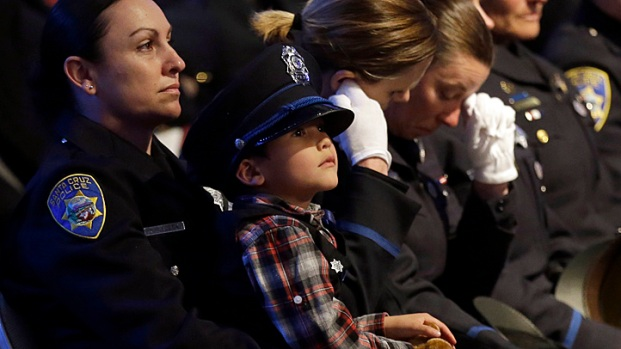 Memorial Service For Santa Cruz Police Officers