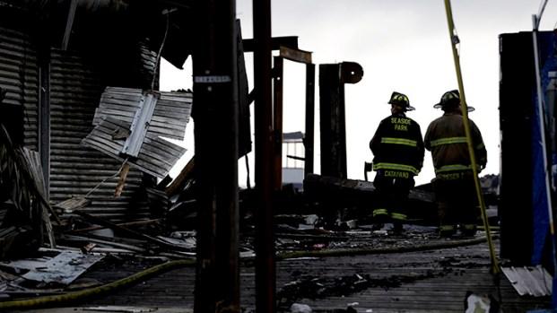 [PHI] Firefighters Tending Hot Spots