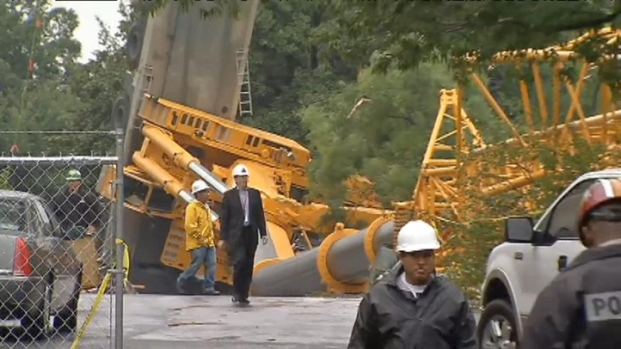 [DC] Crane Collapses Outside National Cathedral