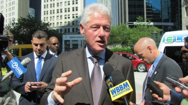 Clinton Talks Electric Cars