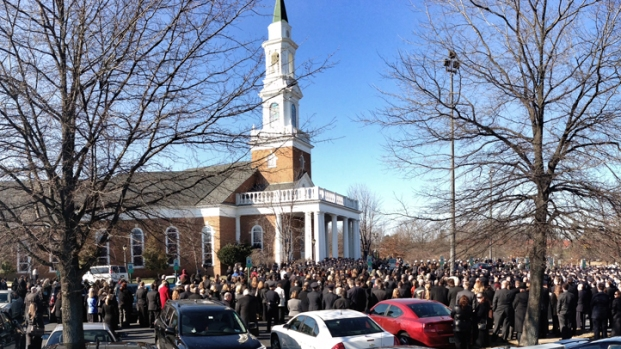 [DC] Mourners Pack Church for Funeral of Prince William Officer