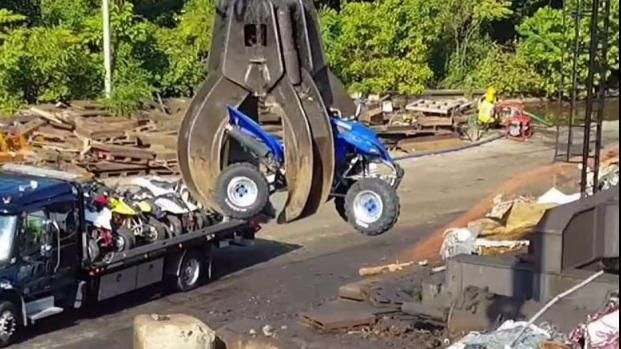 Demolition Day for ATVs DC Police Confiscated