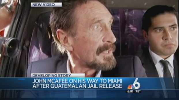 [MI] John McAfee Flying to Miami International Airport: Officials