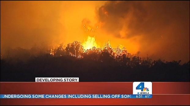 [LA] Idyllwild Fire Burns East Through Steep Terrain