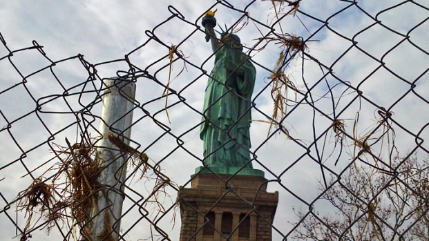 First Look at Sandy Damage on Liberty Island