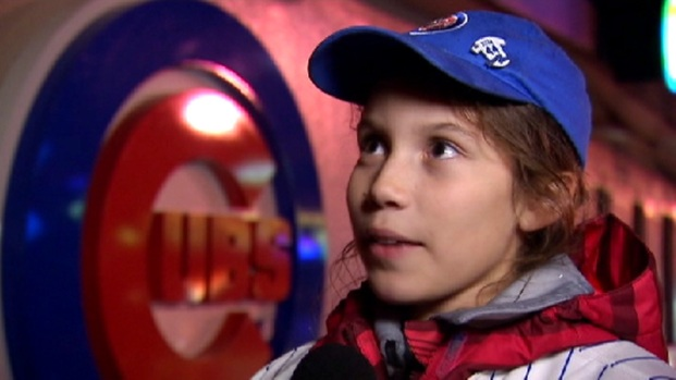 [CHI] 11-Year-Old Girl's Cheers Too Much for One Cubs Fan