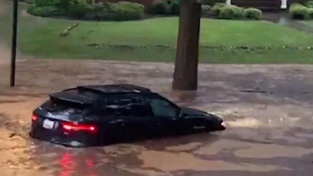 [DC] Roads Turn to Rivers During Monday Deluge