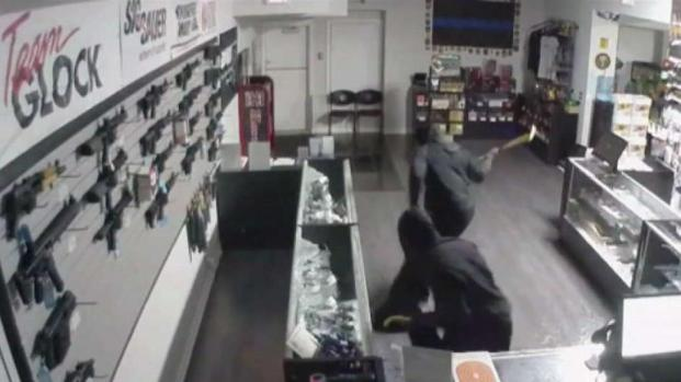 Suspected Burglar Dead in Gun Shop Smash and Grab