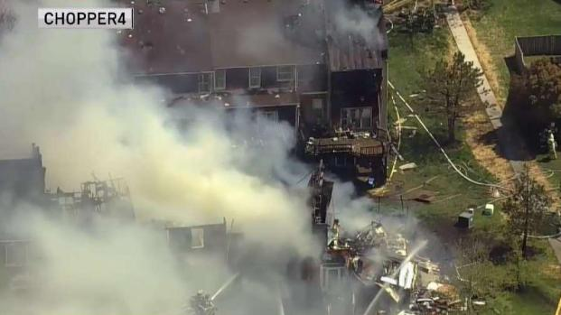 Two Rows of Homes Destroyed in Centreville Fire