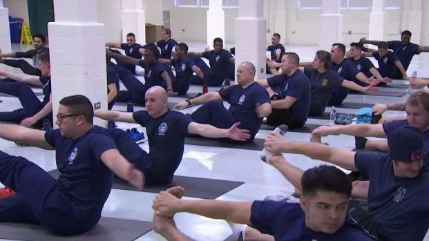 Virginia Firefighters Learn Yoga to Cope With Stress