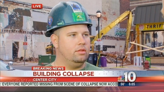 [PHI] Construction Worker Jumps in to Rescue Collapse Victims