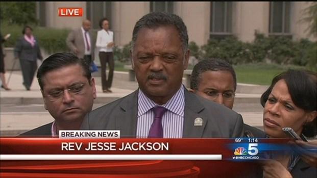 [CHI] Rev. Jesse Jackson Reacts To Son's Sentence