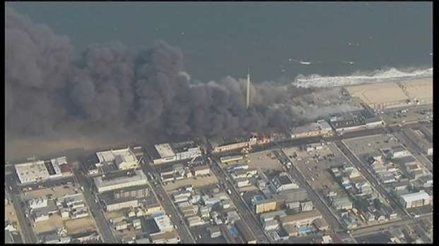 [NY] Raging Fire on Jersey Shore Boardwalk