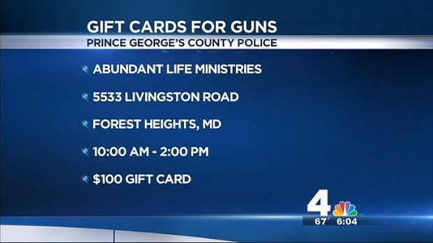 [DC] Gun Turn-In in Prince George's County