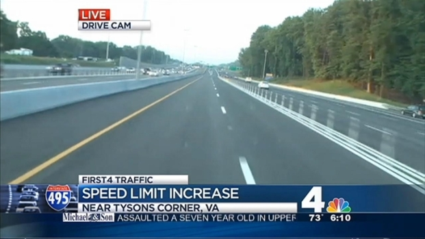 [DC] Speed Limit Increased on 495 Express Lanes