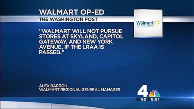 [DC] Walmart Threatens to Leave D.C.