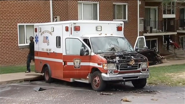 [DC] D.C. Ambulance Catches Fire During Response