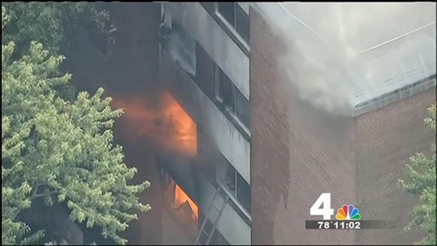 [DC] 10 Hospitalized, 100 Homeless Following Maryland Apt. Fire