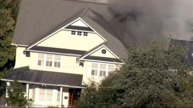 [DC] CHOPPER VIDEO: 3-Alarm Fire in Chevy Chase, Md.