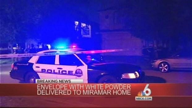 [MI] Miramar Woman Received Envelope With White Powder: Authorities