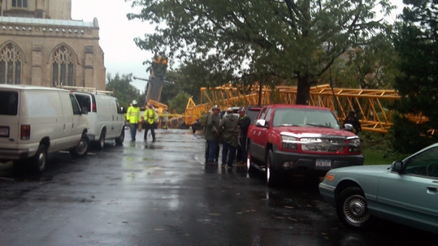 [DC] Raw Video: National Cathedral Crane Collapse