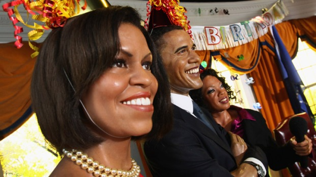 Wax Obamas Celebrate at Madame Tussauds