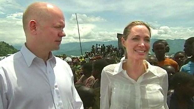[AP] Angelina Jolie Visits Congo Rape Victims