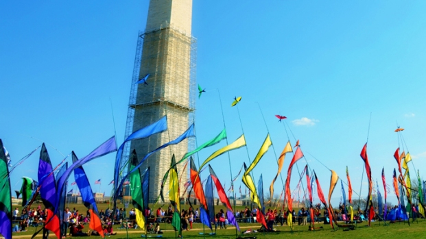 Kites Soar Over the National Mall During the 2013 Blossom Kite Festival