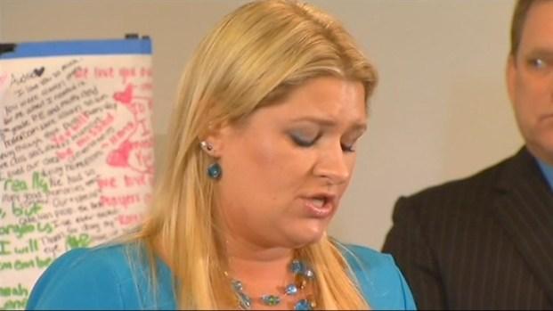 [BAY] Raw Video: Stepmom Lisa Pott Speaks About Audrie's Sex Assault, Suicide