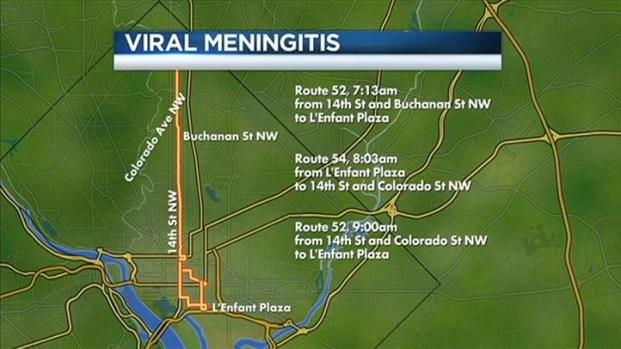 [DC] Metro: Bus Driver Has Viral Meningitis