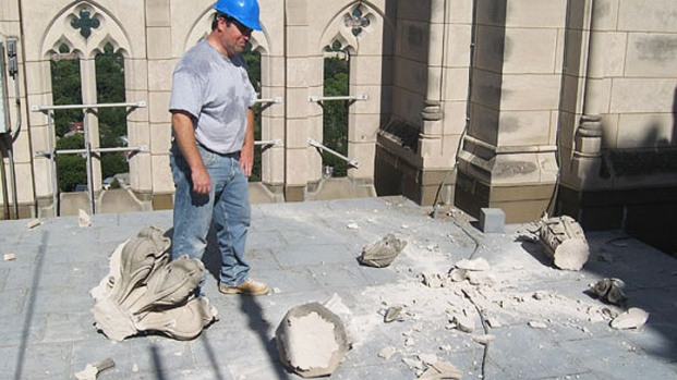 Photos: National Cathedral Damage